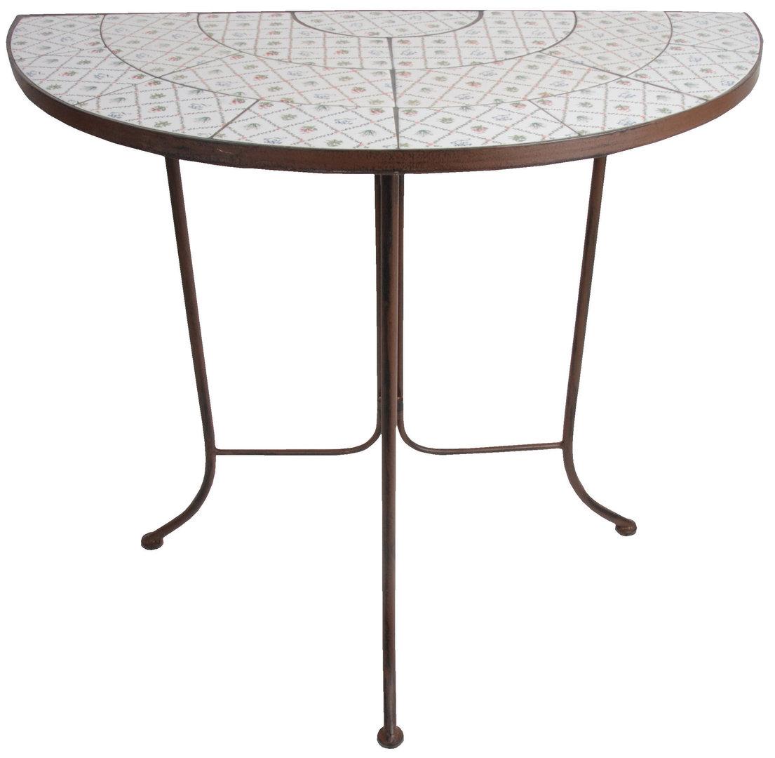 garten tisch mosaik landhaus stil halbrund botanicae. Black Bedroom Furniture Sets. Home Design Ideas
